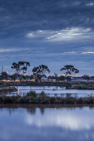 Munno Para wetland at night