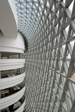 sahmri, internal, facade, east atrium